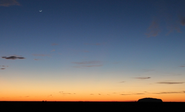 Uluru and the Moon