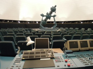 Planetarium interior and Control Panel