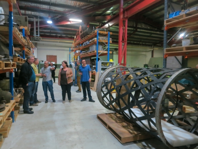 APS Members inspecting the telescope