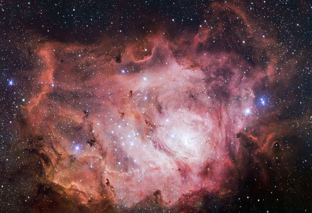 The Lagoon Nebula, as seen by the ESO Very Large Telescope (VLT). Credit: ESO