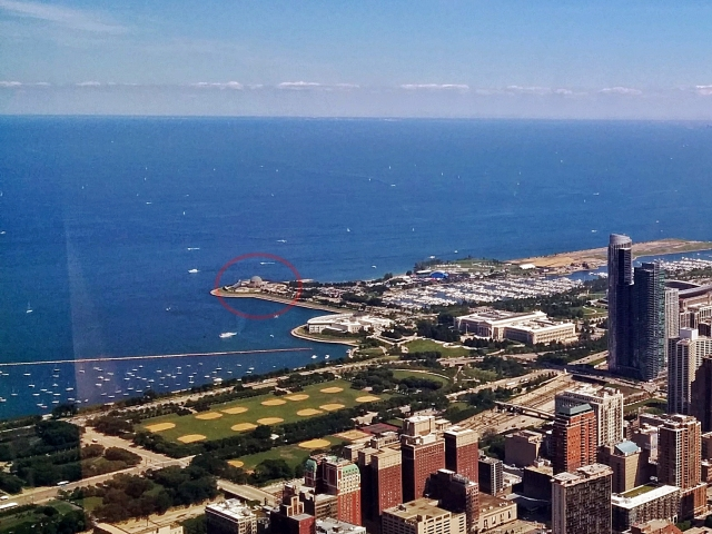 Adler Planetarium from Willis Tower_Nick Lomb