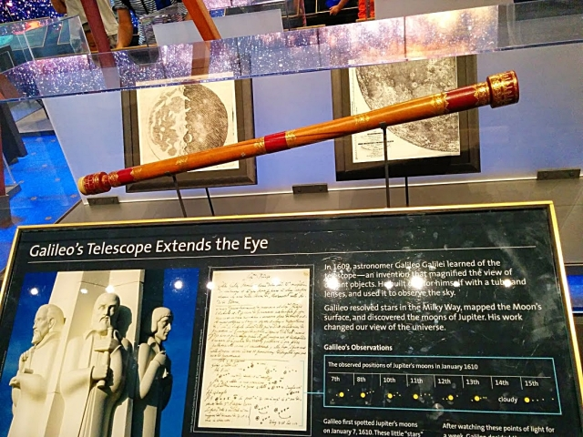 Galileo telescope replica on display