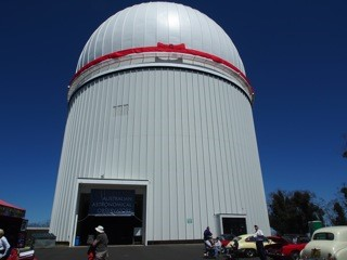 Main Telescope Building with Red Birthday Ribbon