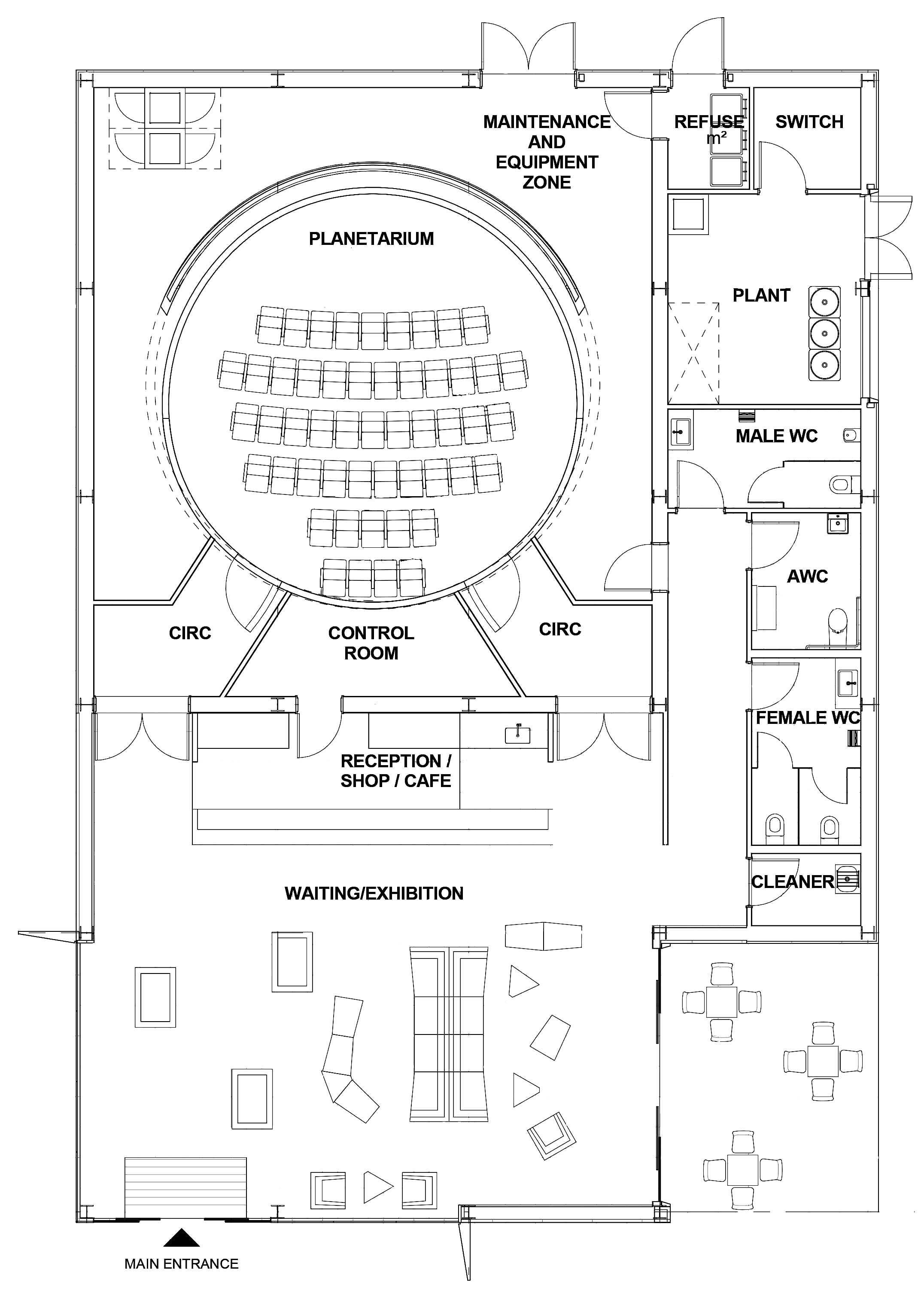 Hayden planetarium floor plan for Floor plan assistance