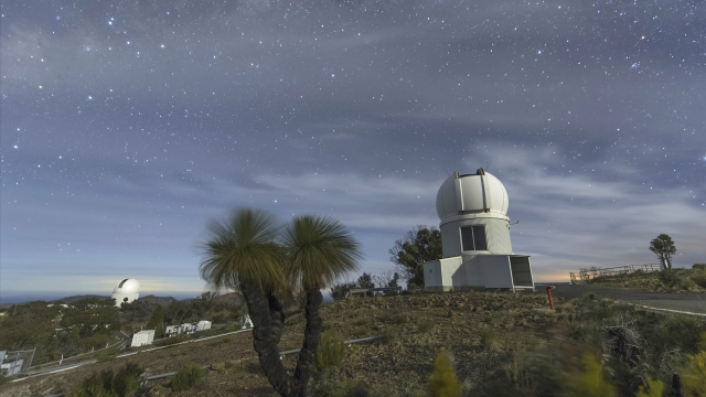 SkyMapper, an automated telescope in northern New South Wales, is building a vast new catalogue of stars and galaxies that are millions of times fainter than the eye can see. Credit: Melbourne Planetarium/Alex Cherney